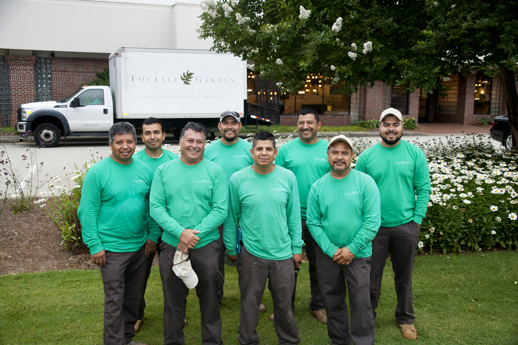 Fockele Garden Company Professional Landscaping Installation Team, includes commercial landscaping contractors and modern residential landscape designers.