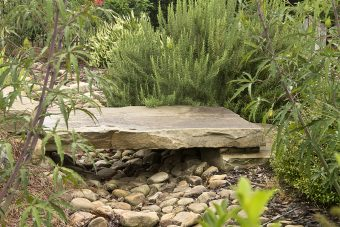 landscaping-stones-and-plants-channel-rainwater-to-other-water-features