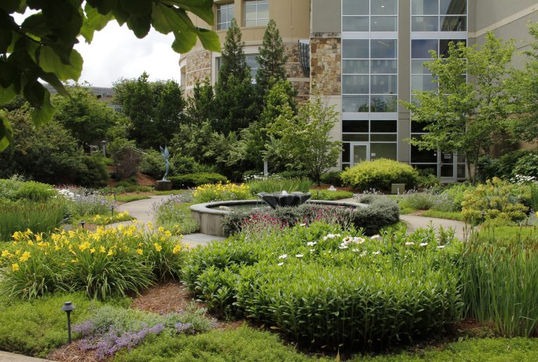 Outdoor Water Fountains Commercial Landscaping NALP Award IMG