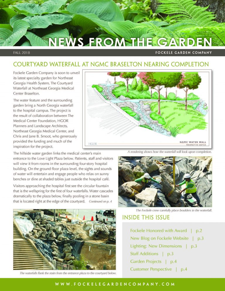 landscaping near me - Fall 2018 Newsletter