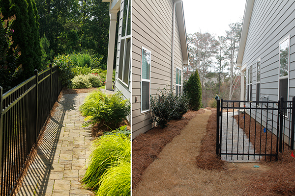 outdoor landscapes company - Stone Walkway Before And After IMG