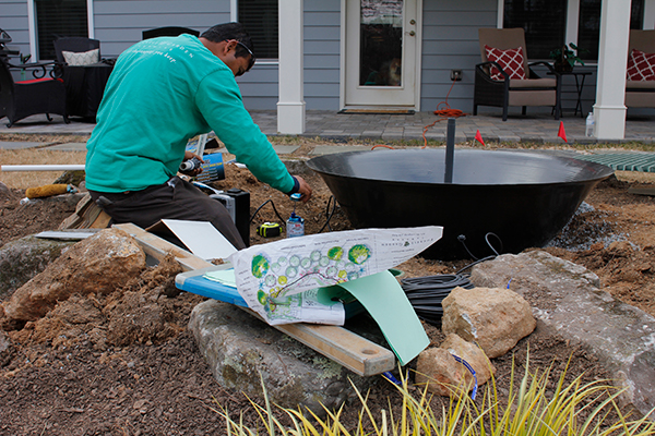 residential landscaping with rocks - Outdoor Water Fountains Installation Near Me IMG