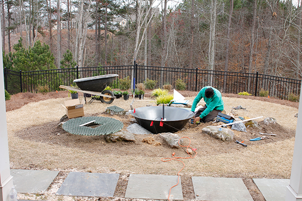 small backyard landscaping services near me - Outdoor Water Fountains Being Constructed IMG