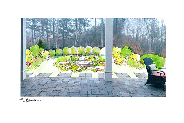 landscape architects near me - Robertson Outdoor Fountain Illustration IMG